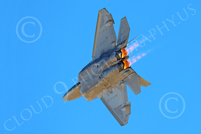 AB-F-22 00168 A flying USAF Lockheed Martin F-22 Raptor air superiority steatlh jet fighter OT code 422 TES in afterburner military airplane picture by Peter J Mancus