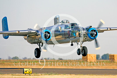 WB - North American B-25 Mitchell 00142 North American B-25 Mitchell Old Glory by Peter J Mancus