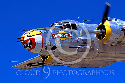 WB - North American B-25 Mitchell 00136 North American B-25 Mitchell Sunday Punch by Peter J Mancus