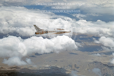F-100USAF 00010 North American F-100A Super Sabre USAF 42099 Official USAF photograph produced by Cloud 9 Photography