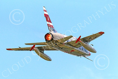 WB - F-100 00004 A North American F-100F Super Sabre USAF jet fighter FW-948 63948 warbird in full afterburner, by Peter J Mancus