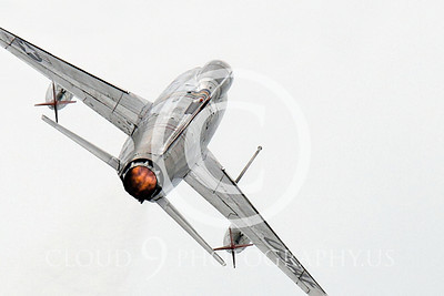 WB - F-100 00032 Where an enemy fighter pilot would want to be--on the ass end of a USAF jet fighter, in the proverbial kill position, by Peter J Mancus
