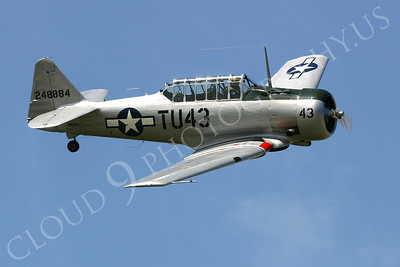 WB- North American T-6 Texan 00012 A flying North American T-6 Texan WWII era military trainer airplane picture, by Tim Perkins