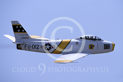 WB - North American F-86 Sabre 00034 North American F-86F Sabre US Air Force warbird markings by Peter J Mancus