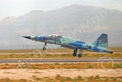 F-5USAF 00022 Northrop F-5E Freedom Fighter USAF 01557 AGGRESSOR Nellis AFB by Peter J Mancus