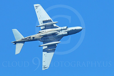 EA-6BUSMC 00008 Underside view of a flying USMC Grumman EA-6B Prowler, military airplane picture, by Peter J Mancus