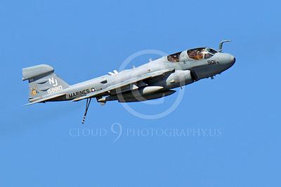 EA-6BUSMC 00004 An airborne USMC Grumman EA-6B Prowler 158810 NJ VAQ-129 VIKINGS, by Peter J Mancus