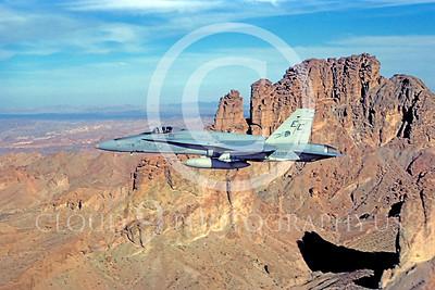 F-18USMC 00112 McDonnell Douglas F-18A Hornet USMC VMFA-531 MCAS Yuma October 1984 by Peter J Mancus