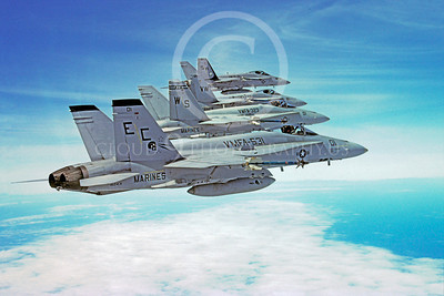 F-18USMC 00116 McDonnell Douglas F-18C Hornet USMC 162431 VMFA-531 21 February 1992 by Robert L Lawson
