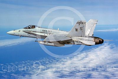 F-18USMC 00102 McDonnell Douglas F-18A Hornet USMC VMFA-323 21 February 1992 by Bob L Lawson