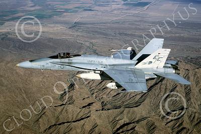 F-18USMC 00154 McDonnell Douglas F-18A Hornet USMC VMFA-531 MCAS Yuma by Peter J Mancus