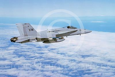 F-18USMC 00082 McDonnell Douglas F-18A Hornet USMC VMFA-314 21 February 1992 by Bob L Lawson