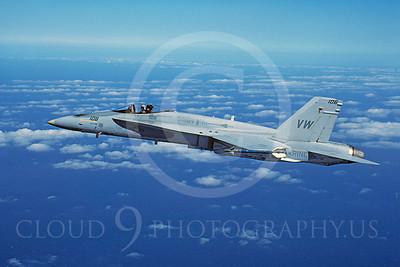F-18USMC 00050 McDonnell Douglas F-18A Hornet USMC 161755 VMFA-314 February 1984 by Peter J Mancus