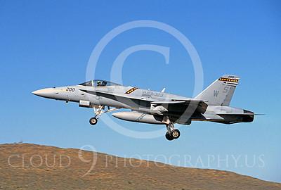 F-18USMC 00078 McDonnell Douglas F-18A Hornet USMC VMFA-323 COMMANDER'S AIRPLANE by Peter J Mancus