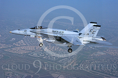 F-18USMC 00132 McDonnell Douglas F-18A Hornet USMC VMFA-531 11 February 1982 by Robert L Lawson