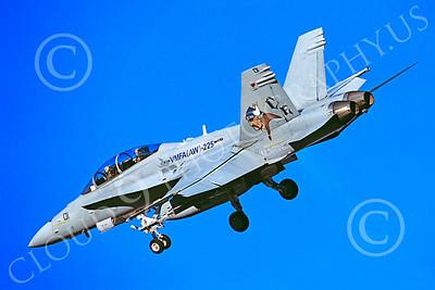 F-18USMC 00076 McDonnell Douglas F-18B Hornet USMC VMFA(AW)-225 by Peter J Mancus
