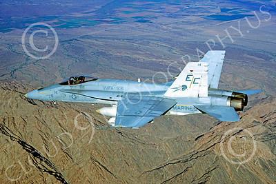 F-18USMC 00150 McDonnell Douglas F-18A Hornet USMC VMFA-531 MCAS Yuma April 1984 by Peter J Mancus