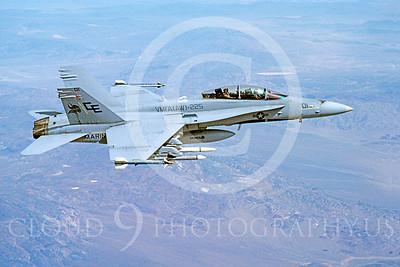 F-18USMC 00142 McDonnell Douglas F-18B Hornet USMC VMFA(AW)-225 VIKINGS by Robert L Lawson