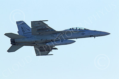 Boeing F-18F - USN 00082 Right side view of an in-flight US Navy Boeing F-18F Super Hornet AB tail code military airplane picture, by Peter J Mancus