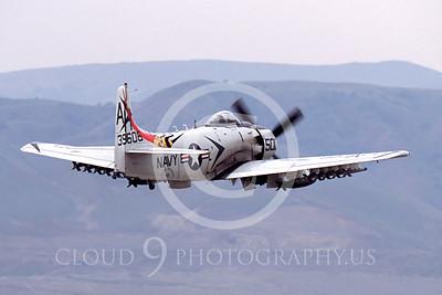 WB - Douglas A-1 Skyraider 00076 Douglas A-1 Skyraider by Peter J Mancus