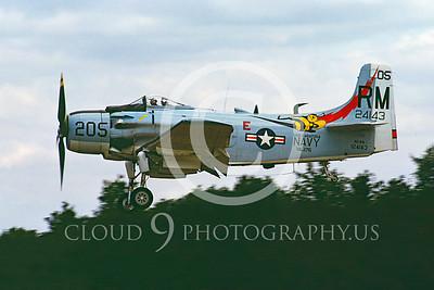 WB - Douglas A-1 Skyraider 00078 Douglas A-1 Skyraider by Stephen W D Wolf