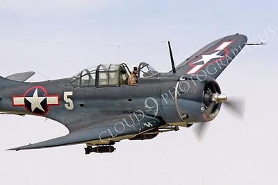WB - Douglas SBD Dauntless 00060 Douglas SBD Dauntless US Navy World War II dive bomber warbird by Peter J Mancus