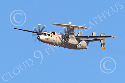 E-2USN 00002 A flying USN Grumman E-2 Hawkeye, by Peter J Mancus