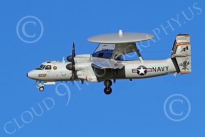 E-2USN 00032 A USN VAW-125 TORCHBEARER Grumman E-2 Hawkeye lands at NAS Fallon, by Peter J Mancus