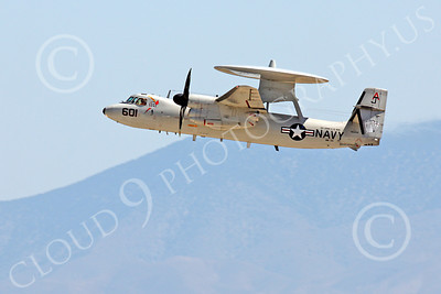 E-2USN 00104 A Grumman E-2C Hawkeye USN VAW-124 BEAR ACES USS George H W Bush takes off at NAS Fallon, by Peter J Mancus