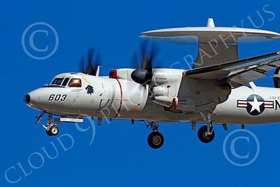 E-2USN 00174 Grumman E-2C Hawkeye USN 5821 VAW-113 BLACK EAGLES USS Ronald Reagan banks to land at NAS Fallon, by Peter J Mancus