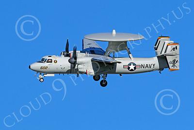 E-2USN 00060 Grumman E-2C Hawkeye USN VAW-125 TORCHBEARERS lands at NAS Fallon, by Peter J Mancus