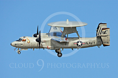 E-2USN 00004 Grumman E-2C Hawkeye US Navy 166506 VAW-116 USS Abraham Lincoln June 2010, by Michael Grove, Sr