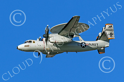 E-2USN 00092 A flying USN Grumman E-2 Hawkeye, by Peter J Mancus