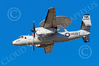 E-2USN 00152 Grumman E-2C Hawkeye USN 5821 VAW-113 BLACK EAGLES USS Ronald Reagan, by Peter J Mancus