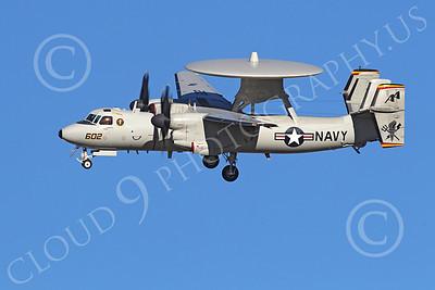 E-2USN 00146 A USN VAW-125 TORCHBEARER Grumman E-2 Hawkeye lands at NAS Fallon, by Peter J Mancus