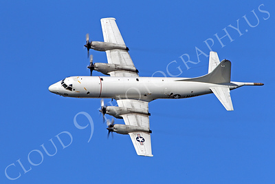 P-3USN 00012 US Navy Lockheed P-3 Orion land based ASW aircraft in flight at US Naval Aviation Centennial air show, by Peter J Mancus