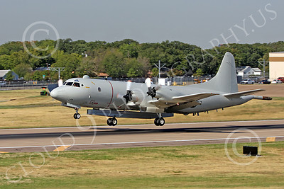 P-3USN 00022 A US Navy Lockheed P-3A Orion with a rare large pod taking off at Love Field in Dallas, military airplane picture, by Tim Perkins