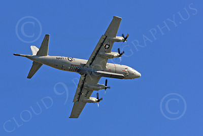 P-3USN 00020 A flying US Navy Lockheed P-3 Orion with a large pode, military airplane picture, by Peter J Mancus