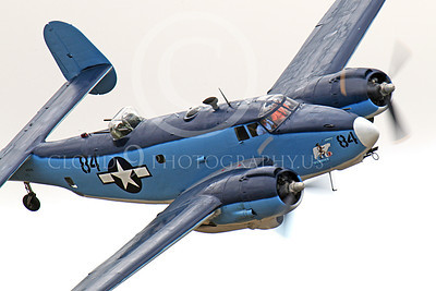 WB - Lockheed PV-2 Harpoon 00040 A tight crop of Attu Warrior banking right, a USN Lockheed PV-2 Harpoon warbird, airplane picture, by Peter J Mancus
