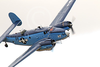 WB - Lockheed PV-2 Harpoon 00018 A tight crop of Attu Warrior banking right, a USN Lockheed PV-2 Harpoon warbird, airplane picture, by Peter J Mancus