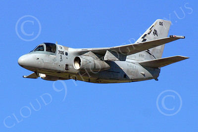S-3USN 00010 A flying USN Lockheed Martin S-3 Viking, VS-22 CHECKMATES, ASW airplane, by Tim Perkins