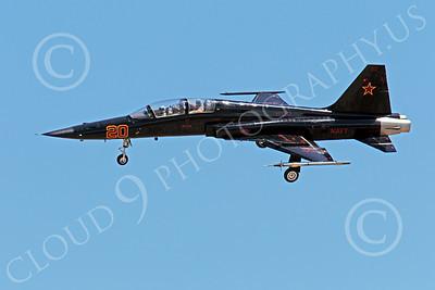 F-5USN 00032 Northrop F-5B Freedom Fighter USN VFC-13 FIGHTING SAINTS banks to land at NAS Fallon, by Peter J Mancus
