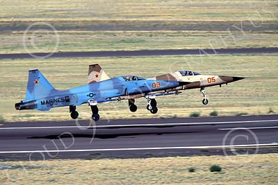 F-5USMC 00002 Northrop F-5E Freedom Fighter USMC VMFT-401 by Peter J Mancus