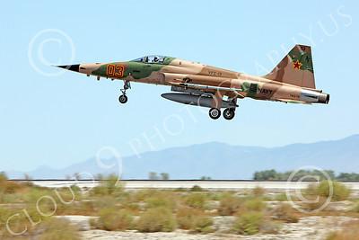 F-5USN 00050 Northrop F-5E Freedom Fighter USN 761578 VFC-13 FIGHTING SAINTS lands at NAS Fallon, by Peter J Mancus