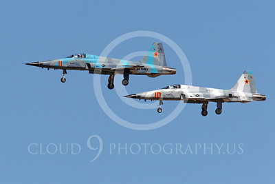 F-5USN 00034 Two USN VFC-13 FIGHTING SAINTS Northrop F-5E Freedom Fighters, 761564 and 761537, land at NAS Fallon, by Peter J Mancus