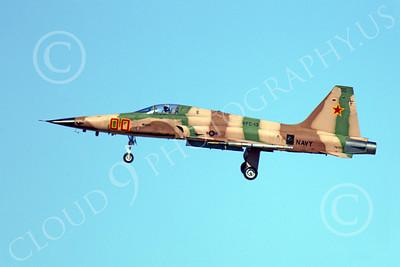 F-5USN 00026 Northrop F-5E Freedom Fighter USN 761562 VFC-13 FIGHTING SAINTS lands at NAS Fallon, by Peter J Mancus