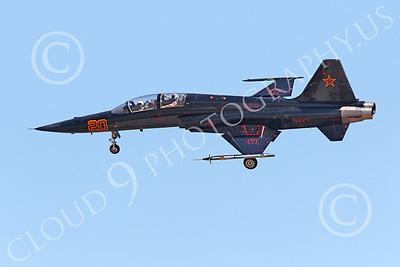 F-5USN 00052 Northrop F-5E Freedom Fighter USN VFC-13 FIGHTING SAINTS lands at NAS Fallon, by Peter J Mancus
