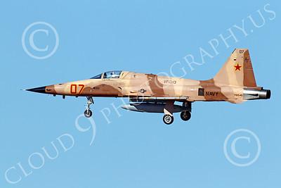F-5USN 00036 Northrop F-5E Freedom Fighter USN 761545 VFC-13 FIGHTING SAINTS lands at NAS Fallon, by Peter J Mancus