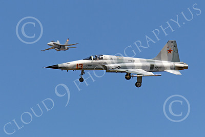 F-5USN 00022 Northrop F-5E Freedom Fighter USN 761552 VFC-13 FIGHTING SAINTS banks to land at NAS Fallon, by Peter J Mancus