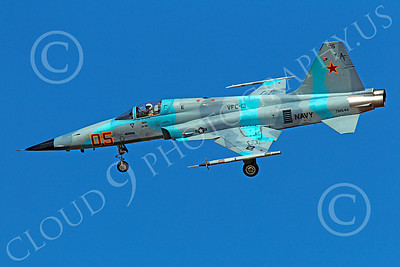 F-5USN 00028 Northrop F-5E Freedom Fighter USN 761544 VFC-13 FIGHTING SAINTS banks to land at NAS Fallon, by Peter J Mancus